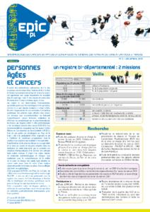 Registre des cancers Bulletin d'information n°2, Décembre 2010